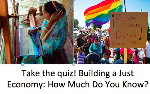 Take the Quiz: Building a just Economy