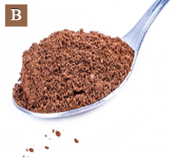 B. Powder from the ground seed was sprinkled as a condiment