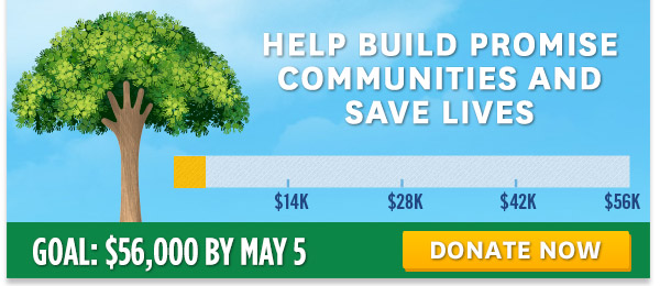 Help build Promise Communities and save lives -- DONATE NOW