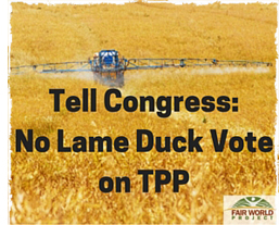 No Lame Duck Vote on TPP!