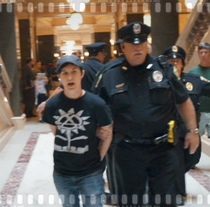Jenna Pope led away by police in Madison Wisconsin